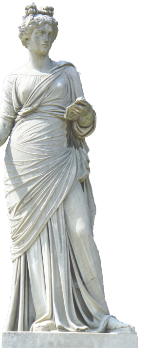 Statue of Clio, the Muse of History in Greek mythology